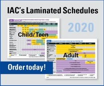 Laminated vaccine schedules