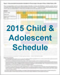 Laminated Child and Teen Laminated Schedule