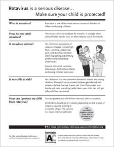 Rotavirus Vaccines Patient Information Handouts