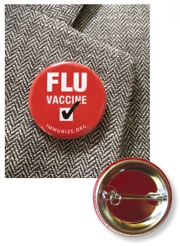 Flu Vaccine Button
