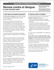human papillomavirus vaccine information sheet