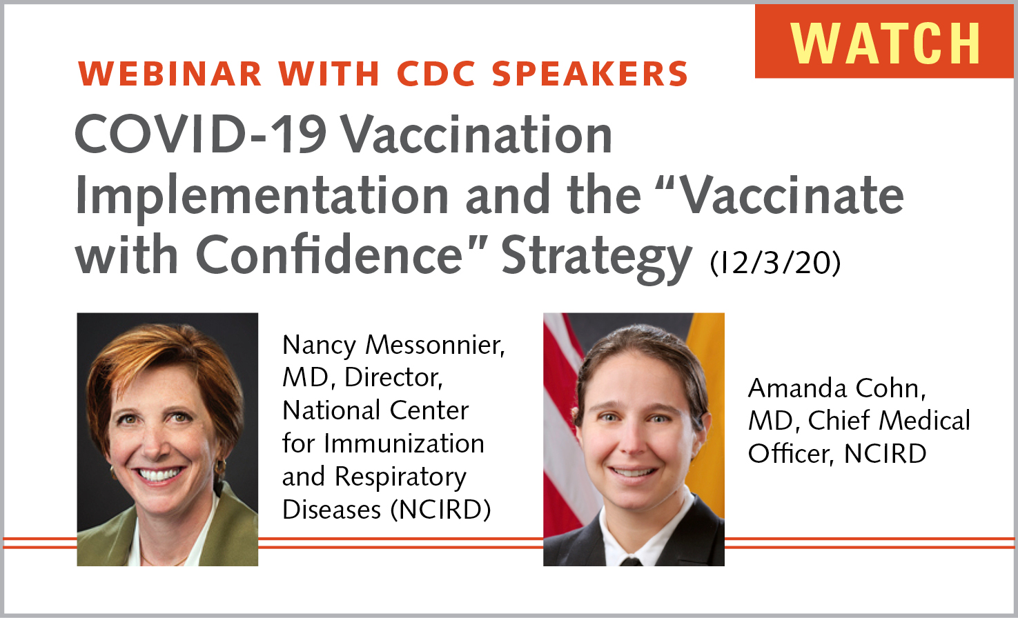 CDC Webinar Speakers
